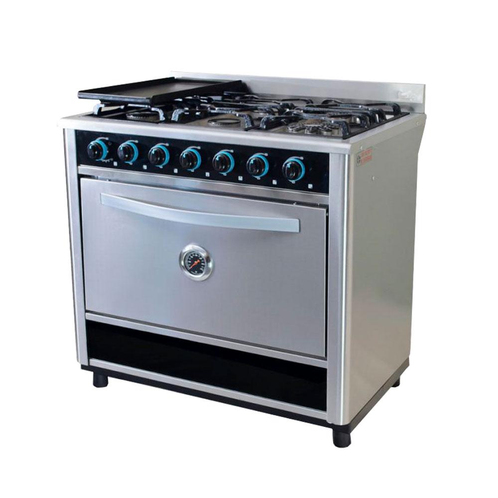 cocina fornax 6 hornallas acero inox sbll todo tecnolog a